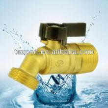 Lead free Quarter-Turn Low Pressure Brass Valves black handle hose bibb