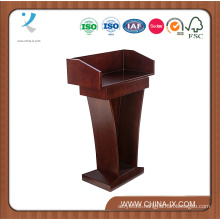 Customized High Desktop Sides Podium for Hotel with Sliding Drawer