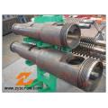 Plastic Machinery Bimetallic Conical Twin Screw and Barrel