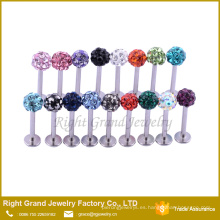 El acero inoxidable barato Labret Ring Lip Rings Studs Body Piercing Jewelry