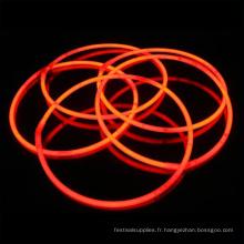 collier de bâton lumineux orange