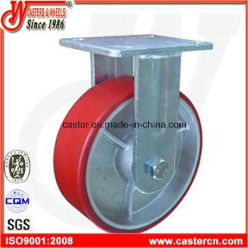 6-дюймовый красный PU жесткие Caster