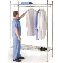 NSF facilmente limpa prateleiras de arame de metal para salas de vestir hospital