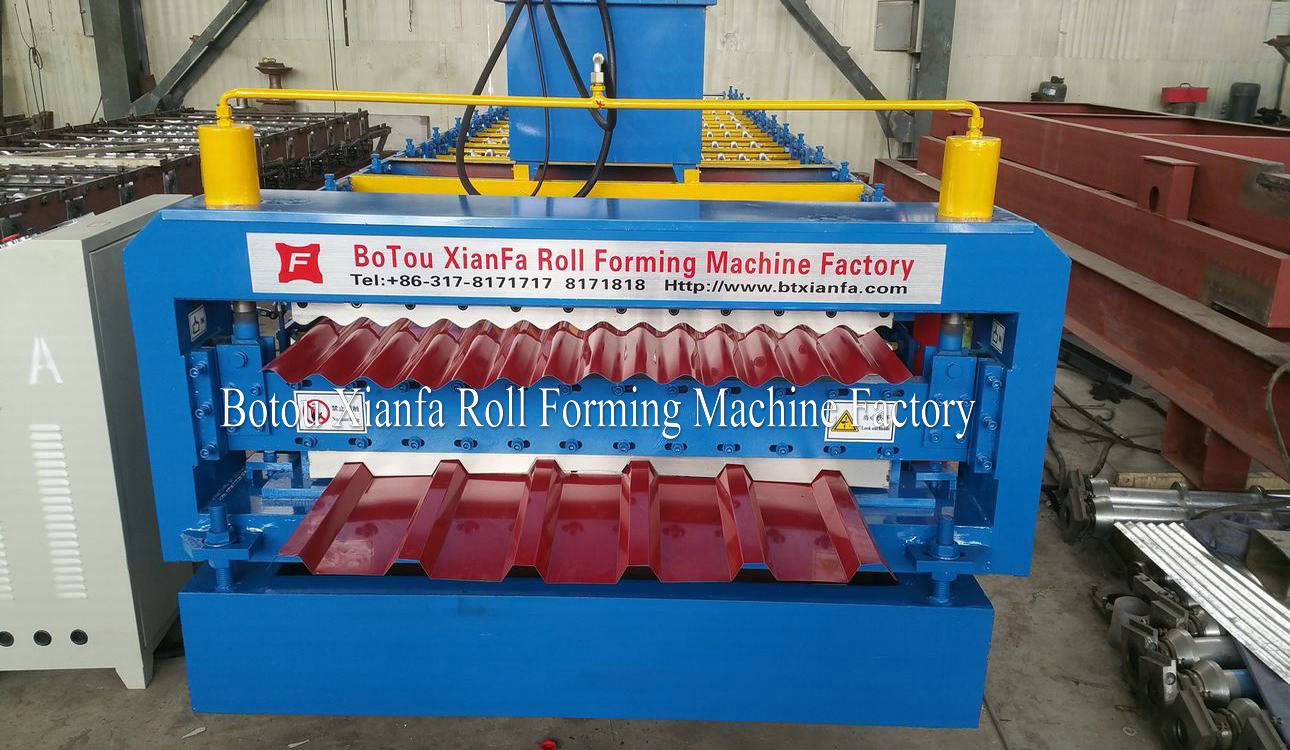 roll forming machine cutting