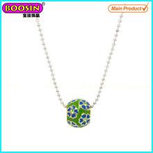 Wholesale Handmade Metal Enamel Beads Necklace # Scn005