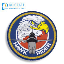 High quality custom embossed 3d army squadron military rubber logo and badges soft pvc us air force patches for sale