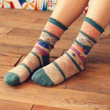 Chaussettes femme à l'hiver
