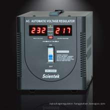 Newest wall mount Servo Motor Type Volt Meter Display 5000va 3000w Automatic Voltage Regulator