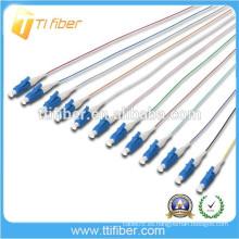 1.5M 9/125 Pigmentación óptica 0.9MM de la fibra óptica del LC del Singlemode