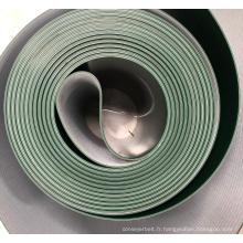 Bande transporteuse bande de puissance PVC Couleur verte