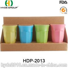 Taza de bambú plástica colorida de la fibra 400ml (HDP-2013)