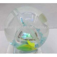Hola Led iluminar bola rebotando (pescado flotando en el interior)