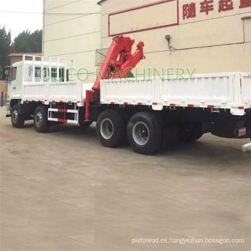 Grúa montada sobre camión con brazo articulado hidráulico de 8 toneladas de China fabricada en fábrica en el cilindro de China