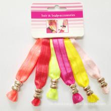 6PCS/Card New Style Elastic Ribbon Hair Tie (HEAD-244)