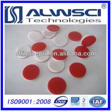 Septa de silicone PTFE de 13 mm, pré-fenda disponível