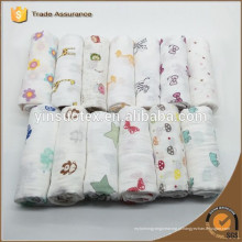 Eco-friendly Muslin Swaddle cobertores Tecidos, cobertor de malha para o bebê