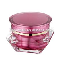 3ml 5ml 15ml 30ml 50ml Diamond Acrylic Cosmetic Cream Jar Wholesale Acrylic Jar With Screw Cap