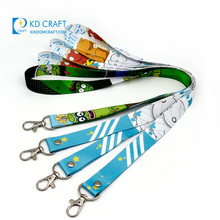 Wholesale personalizado plain retractable printed logo nylon polyester neck strap sublimation custom lanyard with buckle