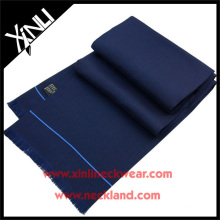 16MM Silk Twill Navy Solid Digital Print Custom Design Scarf Silk Scarf