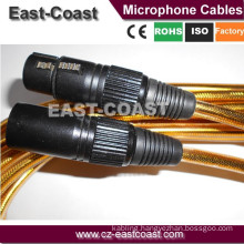 Factory Wholesale Balanced Gold 3PINS XLR TO XLR Microphone Cable Copper Conductor