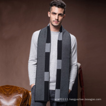 Men′s Classic Winter Warm Wool Acrylic Knitted Scarf (YKY4611)