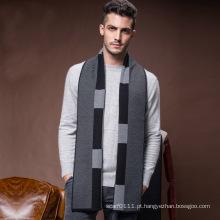 Men \ 's inverno clássico lã quente lenço de malha de acrílico (yky4611)