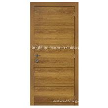 Simple Design Veneered Flush Door with Groove