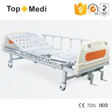 Topmedi Hospital Furniture Manual Two Function Steel Hospital Bed
