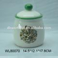 Crema de cerámica pintada a mano y tazón de azúcar para la venta al por mayor