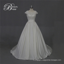 Excellent Quality Satin Bridal Dress with Lace
