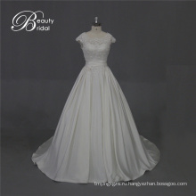 Отличное качество атласная свадебное платье с кружевом
