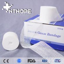 vendaje de gasa blanqueado quirúrgico de algodón puro de alta calidad