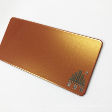 Golden Combustible Fire Rated Fireproof ACP Aluminium Composite Panel Cladding