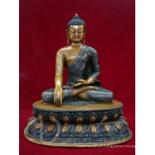 Indoor fengshui metal crafts bronze nepal handmade buddha statue for sale