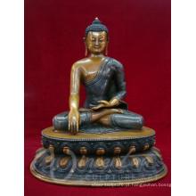 Artesanato de metal fengshui interior bronze nepal estátua de buddha artesanal para venda