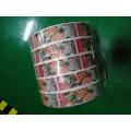 Etiqueta adhesiva adhesiva impermeable personalizada para alimentos enlatados