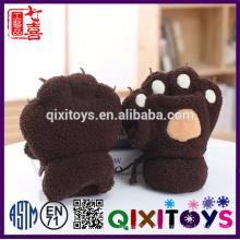 Guantes de animales de peluche animal guantes bufanda de pata suave
