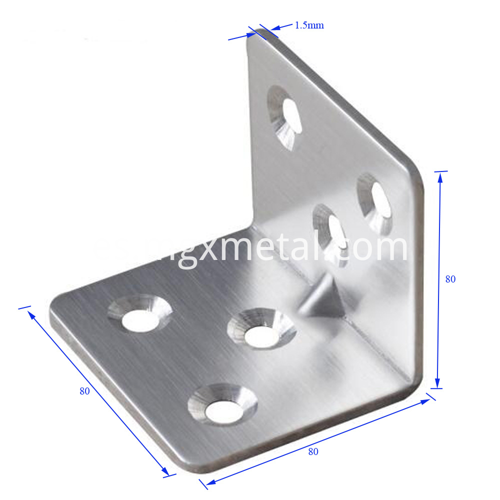 Scb0001 Stainless Right Angle Bracket With Reinforcement Rib Size
