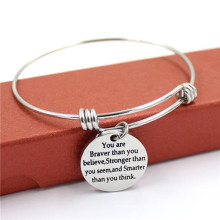316stainless Steel with Alloy Charm Bangle Frendship Fashion Bracelet