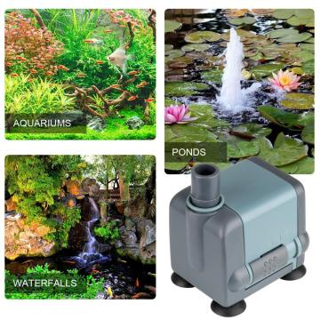 Pompe submersible Heto 132GPH (500LPH, 5W), 1,64ft haute levée, cordon d'alimentation 6.4ft pompe de fontaine pour aquarium, aquarium, culture hydroponique