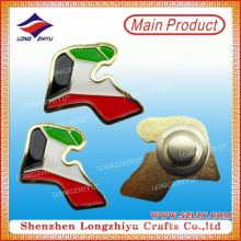 UAE Flag Metal Embossed Badge Pins with Gold Plated for Custom Design