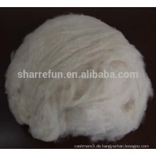 100% reine feine innere mongolische enthaarte natürliche weiße Ziegenkaschmirfaser mit SGS