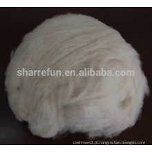 100% puro Mongolian Goat Cashmere Fiber Ivory 16.5mic / 32-34mm