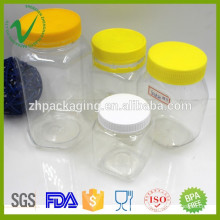 PET high quality wholesale clear empty transparent plastic jar for candy packaging