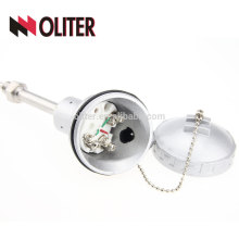 OLITER temperature sensor rtd thermal resistance with ss304 ss316 stainless steel probe waterproof terminal box factory pt100