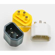 Einsatz IEC 60320 C14 gelb weiß schwarz