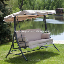 Metal garden swing chair with cushion