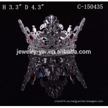 Coronas del diamante del desfile de los accesorios baratos del pelo para la venta