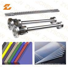 Sheet Extruder Machine Bimetallische Einzelschnecke und Zylinder