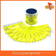 Customize high quality best sale heat sensitive beautiful shrink wrap printing for glass bottles